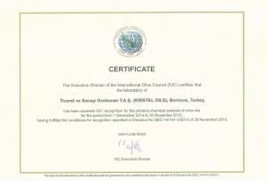 國際橄欖油理事會認證